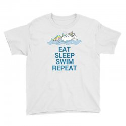 Eat sleep swim repeat unicorn swimming t shirt Youth Tee | Artistshot
