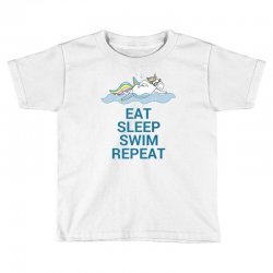 Eat sleep swim repeat unicorn swimming t shirt Toddler T-shirt | Artistshot