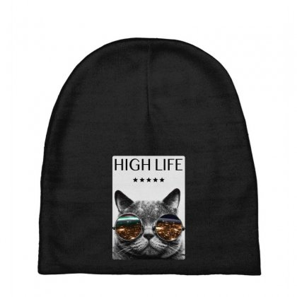 High Life Cat Baby Beanies Designed By Gurkan