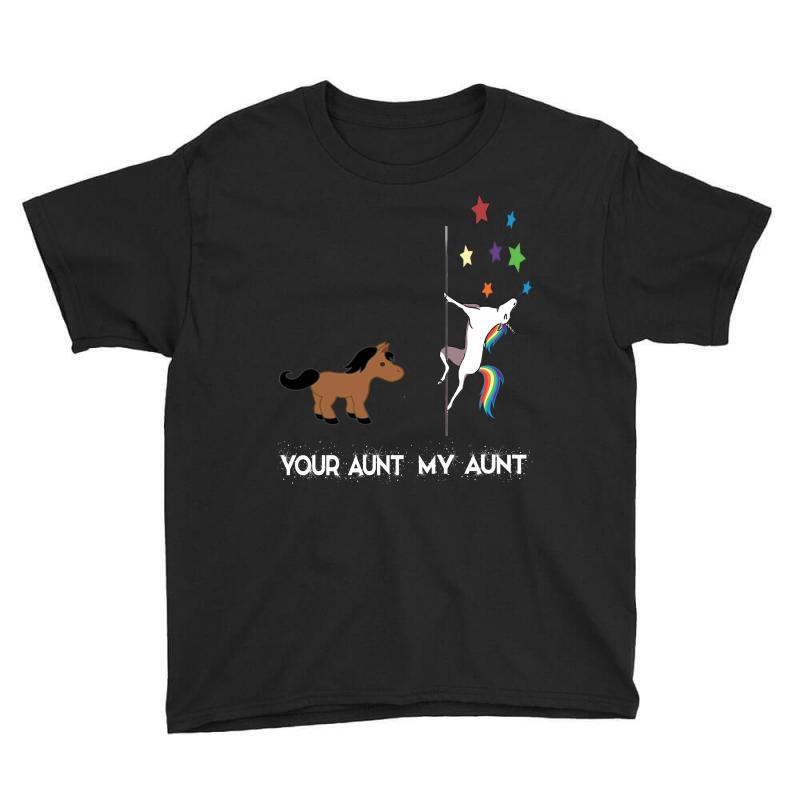 Funny Aunt Shirts Your Aunt My Aunt Cute Unicorn T Shirt Youth Tee | Artistshot