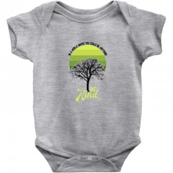 in a world where you could be anything be kind for light Baby Bodysuit | Artistshot