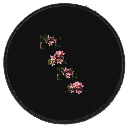 Flower Mom Round Patch Designed By Acoy