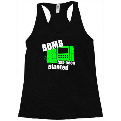 Bomb Has Been Planted Racerback Tank Designed By Erni