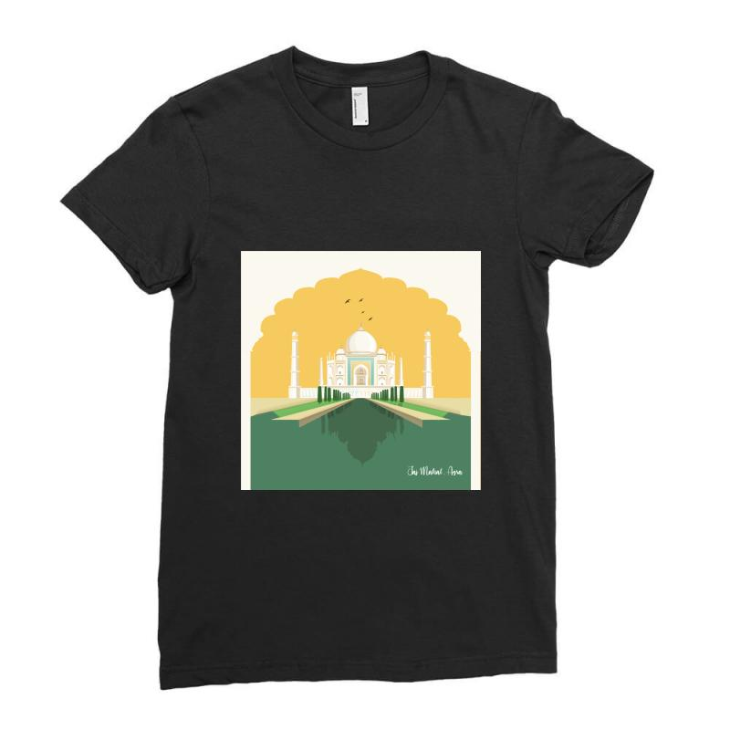 Taj Mahal Ladies Fitted T-shirt | Artistshot