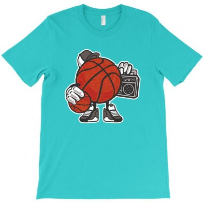 Basketball Ball Player Listen Music T-shirt Designed By Acoy