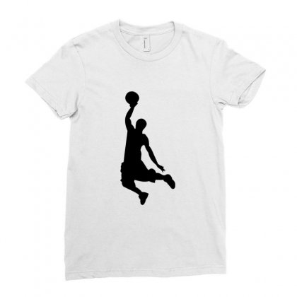 Basketball Player Ladies Fitted T-shirt Designed By Acoy