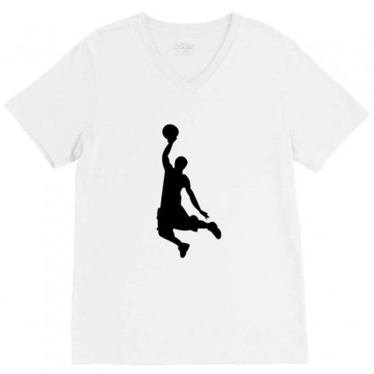 Basketball Player V-neck Tee Designed By Acoy
