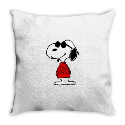 Snoopy Joe Cool Glasses Throw Pillow Designed By Roxanne