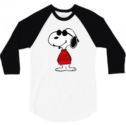 Snoopy joe cool glasses 3/4 Sleeve Shirt | Artistshot