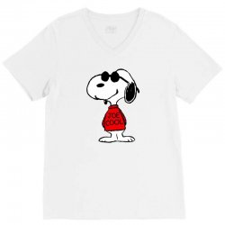 Snoopy joe cool glasses V-Neck Tee | Artistshot