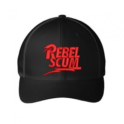 Rebel Scum Embroidered Mesh Cap Designed By Madhatter