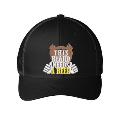 Beard Embroidered Mesh Cap Designed By Madhatter
