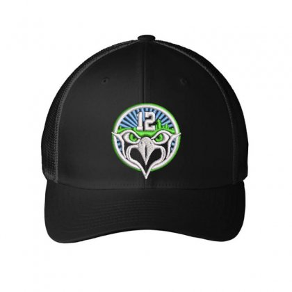 12 Eagle Embroidered Mesh Cap Designed By Madhatter