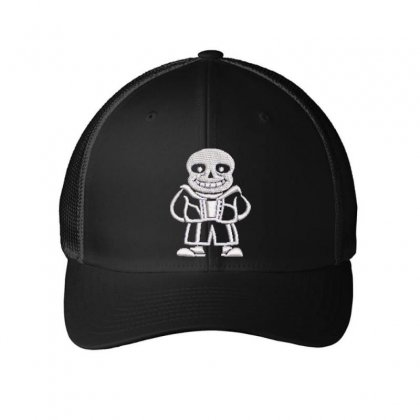 Bald Man Embroidered Mesh Cap Designed By Madhatter