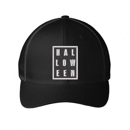 Halloween Embroidered Mesh Cap Designed By Madhatter