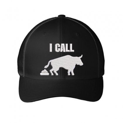 I Call Embroidered Mesh Cap Designed By Madhatter
