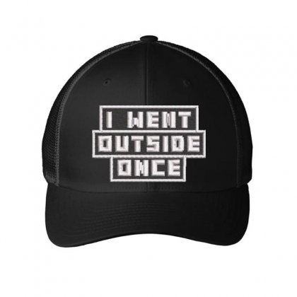 I Went Outside Embroidered Mesh Cap Designed By Madhatter