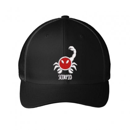 Scorpio Embroidered Mesh Cap Designed By Madhatter