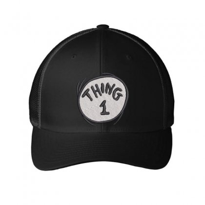 Thing 1 Embroidered Mesh Cap Designed By Madhatter