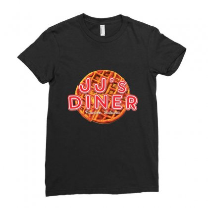Jj's Diner Menu Ladies Fitted T-shirt Designed By Rafieahmad