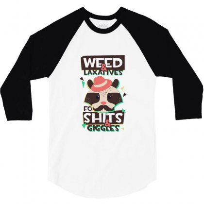 Weed Giggles 3/4 Sleeve Shirt Designed By Perfect Designers
