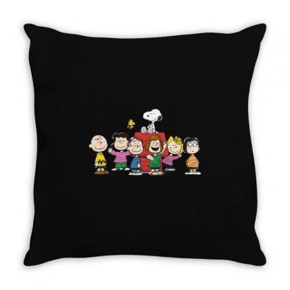 Snoopy Family Throw Pillow Designed By Roxanne