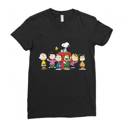 Snoopy Family Ladies Fitted T-shirt Designed By Roxanne