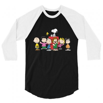 Snoopy Family 3/4 Sleeve Shirt Designed By Roxanne