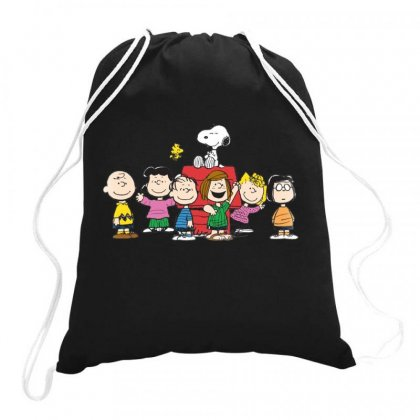 Snoopy Family Drawstring Bags Designed By Roxanne