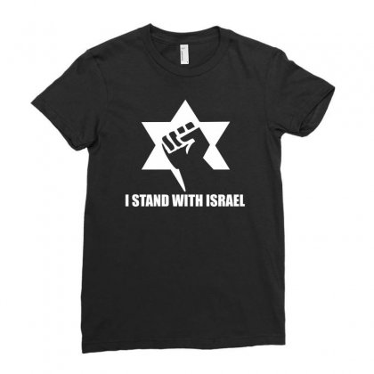I Stand With Israel Ladies Fitted T-shirt Designed By Erni