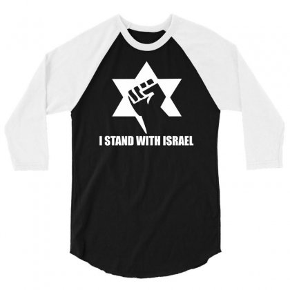 I Stand With Israel 3/4 Sleeve Shirt Designed By Erni
