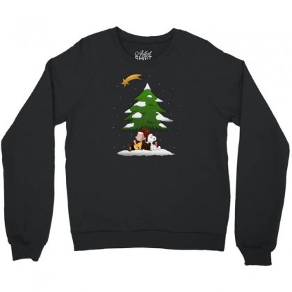 Snoopy Christmas With Charlie Brown Crewneck Sweatshirt Designed By Roxanne
