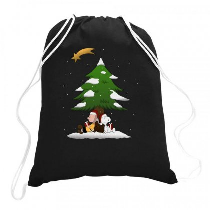 Snoopy Christmas With Charlie Brown Drawstring Bags Designed By Roxanne