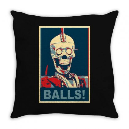 Geoff Robot Balls Craig Ferguson Late Show Throw Pillow Designed By Ruliyanti