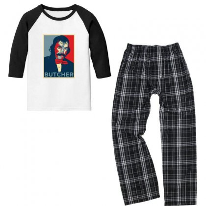 Bill The Butcher Youth 3/4 Sleeve Pajama Set Designed By Sr88