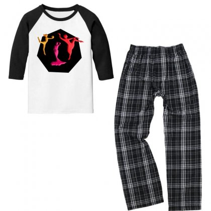 Ladies & Art Youth 3/4 Sleeve Pajama Set Designed By Thappy