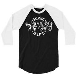 music is life 3/4 Sleeve Shirt | Artistshot