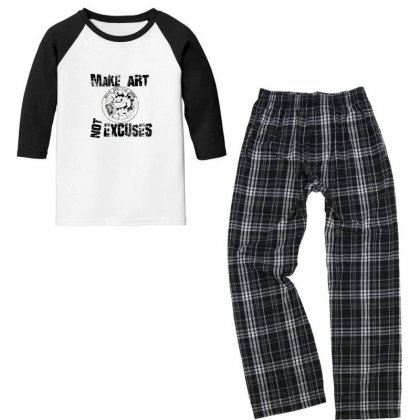 Silverbax Show Make Art Youth 3/4 Sleeve Pajama Set Designed By As99