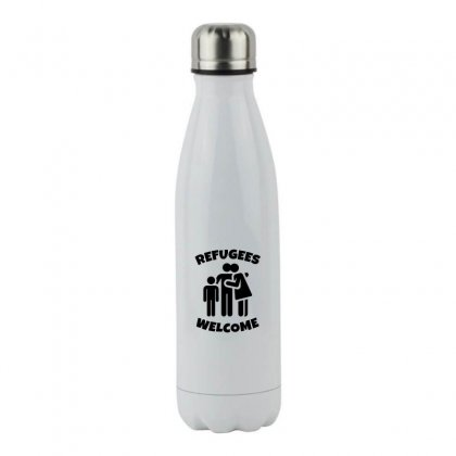 Hias My People Were Refugees Too Stainless Steel Water Bottle Designed By Oktaviany