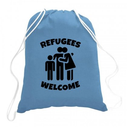 Hias My People Were Refugees Too Drawstring Bags Designed By Oktaviany