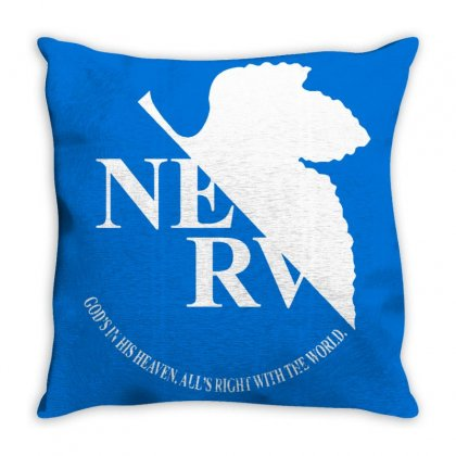 Nerv Logo Throw Pillow Designed By Oktaviany