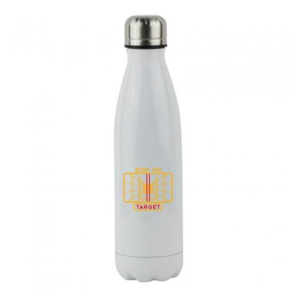 Stay On Target 1977 Targeting Computer Stainless Steel Water Bottle Designed By Oktaviany