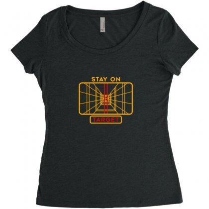 Stay On Target 1977 Targeting Computer Women's Triblend Scoop T-shirt Designed By Oktaviany