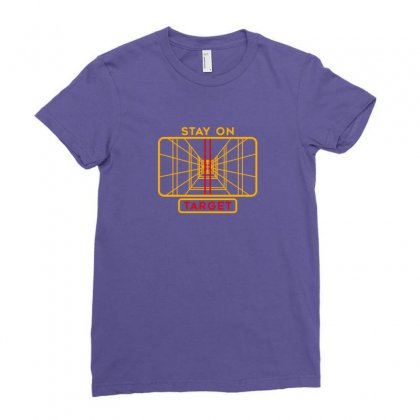 Stay On Target 1977 Targeting Computer Ladies Fitted T-shirt Designed By Oktaviany
