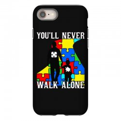 never walk alone   father and son iPhone 8 Case | Artistshot
