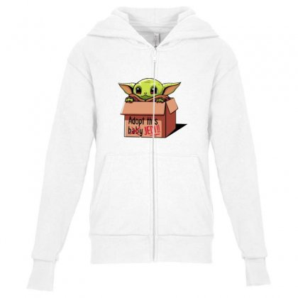 The Baby Force Youth Zipper Hoodie Designed By Oktaviany