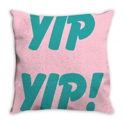 Yip Yip Throw Pillow Designed By Oktaviany