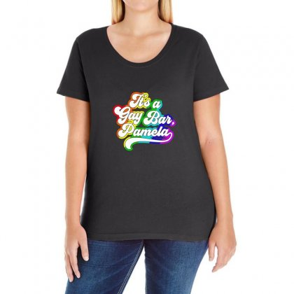 It's A Gay Bar Pamela Lgbt Ladies Curvy T-shirt Designed By Oktaviany