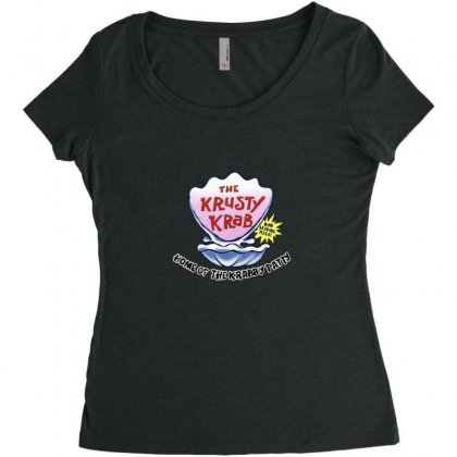 Krusty Krab Pizza Merch Women's Triblend Scoop T-shirt Designed By Oktaviany