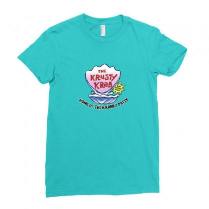Krusty Krab Pizza Merch Ladies Fitted T-shirt Designed By Oktaviany